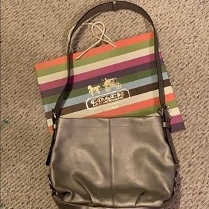 Coach Silver Leather Hobo